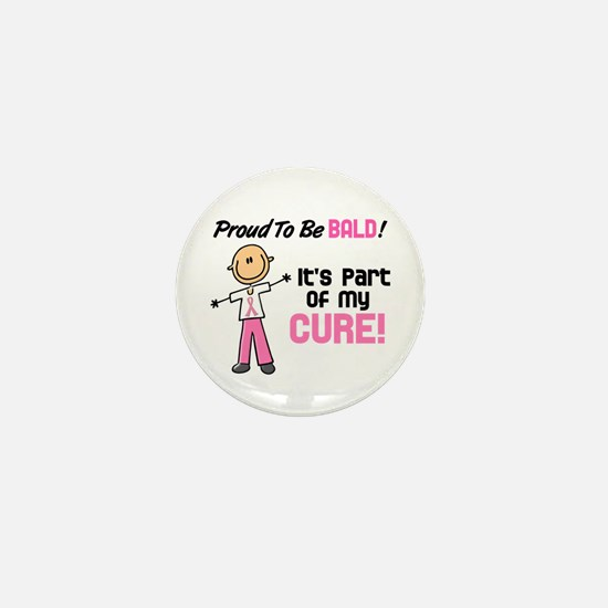 Bald 1 Breast Cancer (SFT) Mini Button
