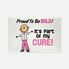 Bald 1 Breast Cancer (SFT) Rectangle Magnet