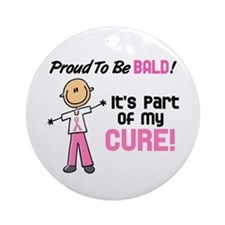 Bald 1 Breast Cancer (SFT) Ornament (Round)