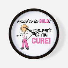 Bald 1 Breast Cancer (SFT) Wall Clock