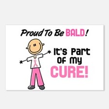 Bald 1 Breast Cancer (SFT) Postcards (Package of 8