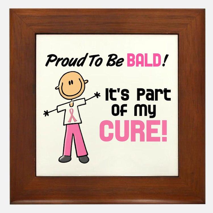 Bald 1 Breast Cancer (SFT) Framed Tile