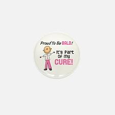 Bald 1 Breast Cancer (SFT) Mini Button (10 pack)