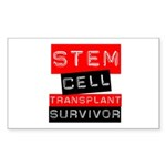Stem Cell Transplant Survivor Rectangle Sticker 1