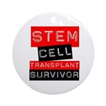 Stem Cell Transplant Survivor Ornament (Round)