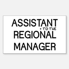 Assistant Manager Sticker (Rectangle)