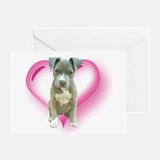 Pitbull puppy Greeting Card