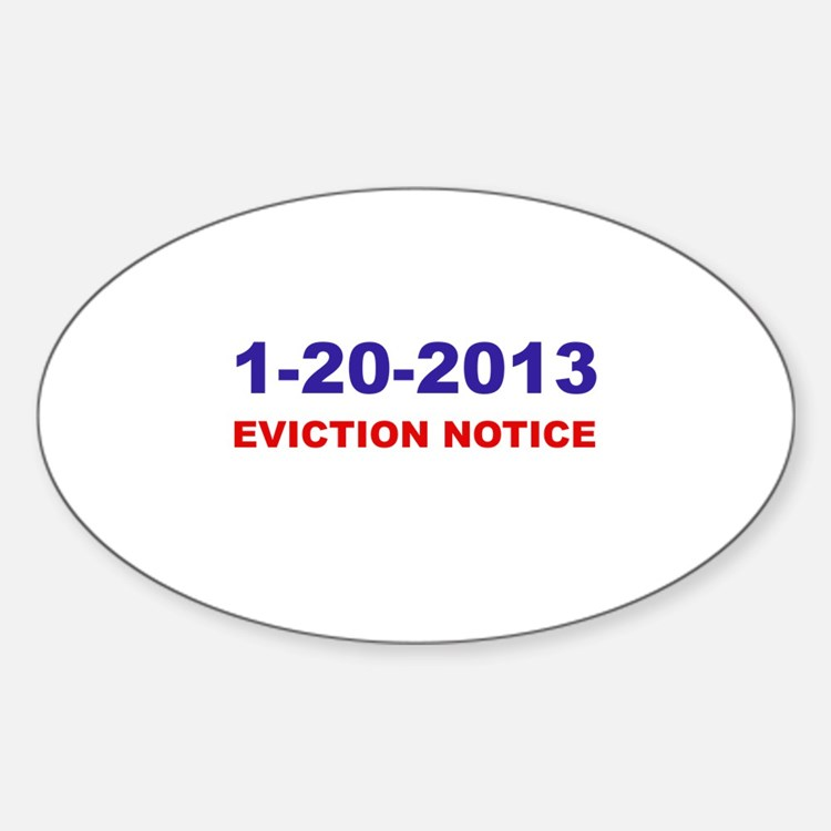 Eviction Notice Oval Decal