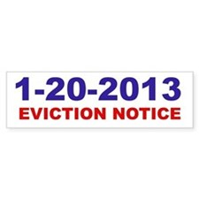Eviction Notice Bumper Bumper Sticker