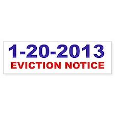 Eviction Notice Bumper Bumper Sticker