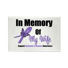 Alzheimer's In Memory Wife Rectangle Magnet
