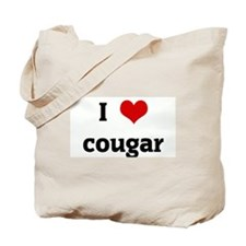 I Love cougar Tote Bag