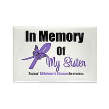 Alzheimer's In Memory Sister Rectangle Magnet