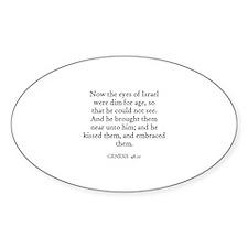 GENESIS 48:10 Oval Decal