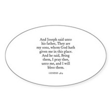 GENESIS 48:9 Oval Decal