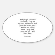 GENESIS 48:9 Oval Decal
