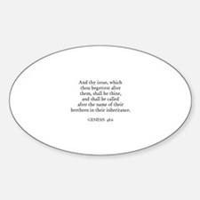 GENESIS 48:6 Oval Decal