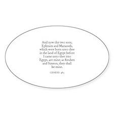 GENESIS 48:5 Oval Decal