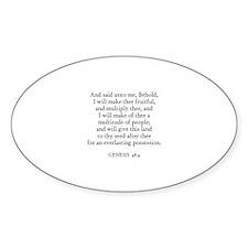 GENESIS 48:4 Oval Decal