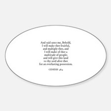 GENESIS 48:4 Oval Decal