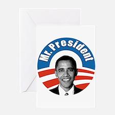 Obama - Mr President Greeting Card