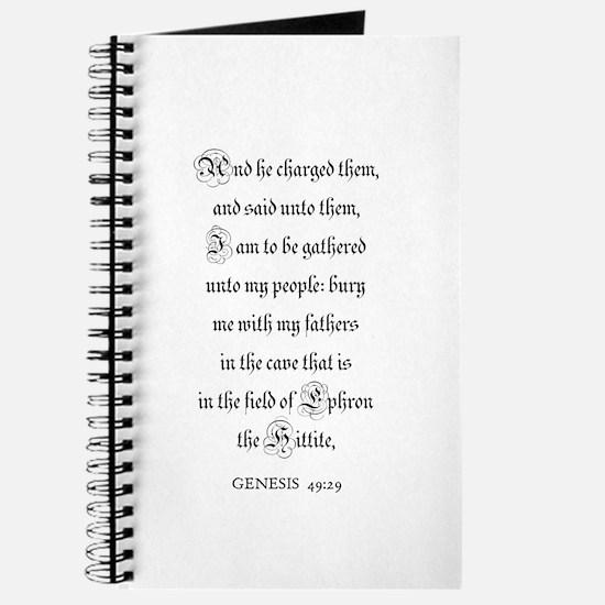 GENESIS 49:29 Journal