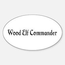 Wood Elf Commander Oval Decal