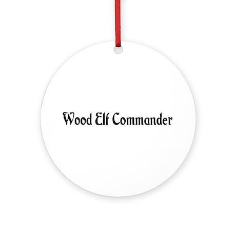 Wood Elf Commander Ornament (Round)