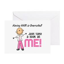 Bald 5 Pink (SFT) Greeting Card