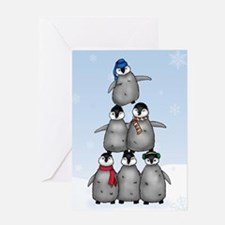 """Penguin Tree"" Single Greeting Card"