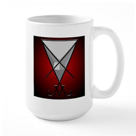 Black Lucifer Tall Sigil Mug