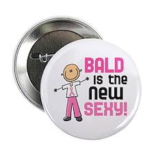 "Bald 6 Pink (SFT) 2.25"" Button"