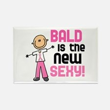 Bald 6 Pink (SFT) Rectangle Magnet
