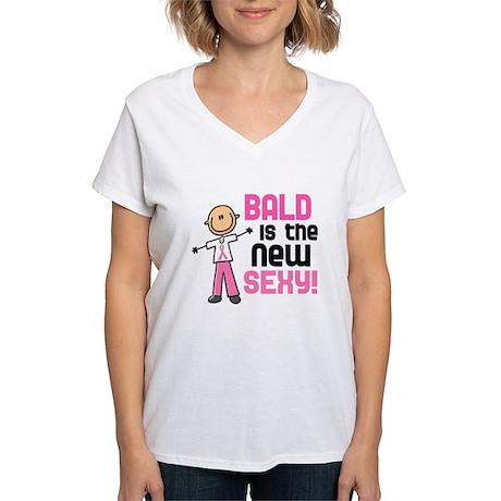 Bald 6 Pink (SFT) Women's V-Neck T-Shirt