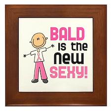 Bald 6 Pink (SFT) Framed Tile
