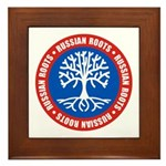 Russian Roots Framed Tile