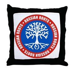 Russian Roots Throw Pillow