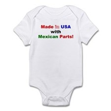 Made in USA with Mexican Parts! Infant Creeper