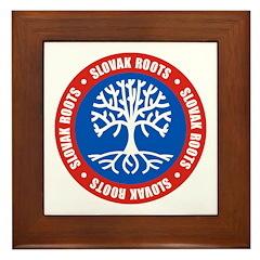 Slovak Roots Framed Tile
