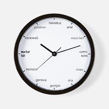 Font Wall Clock