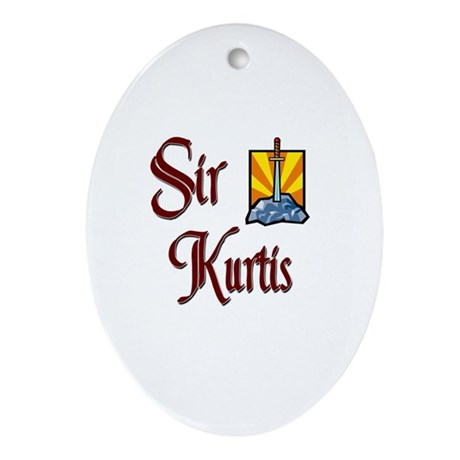 Sir Kurtis Oval Ornament