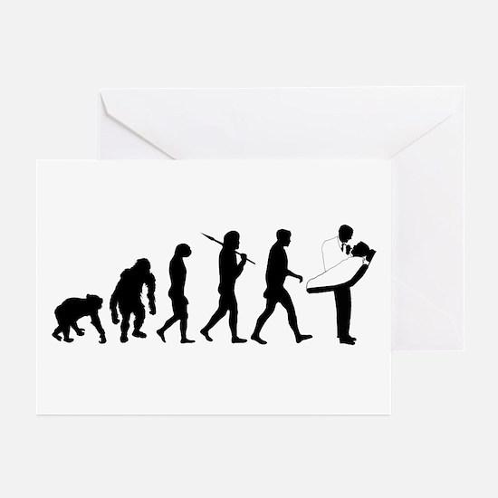 Dentist Evolution Greeting Cards (Pk of 20)
