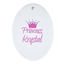 Princess Krystal Oval Ornament