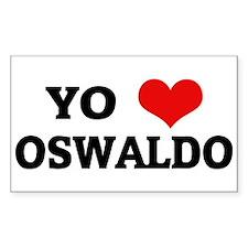 Amo (i love) Oswaldo Rectangle Decal