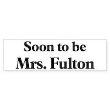 Soon to be Mrs. Fulton Bumper Car Sticker