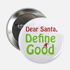 "Define Good Santa 2.25"" Button (100 pack)"