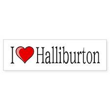 I [heart] Halliburton Bumper Sticker