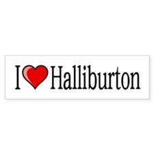 I [heart] Halliburton Car Sticker