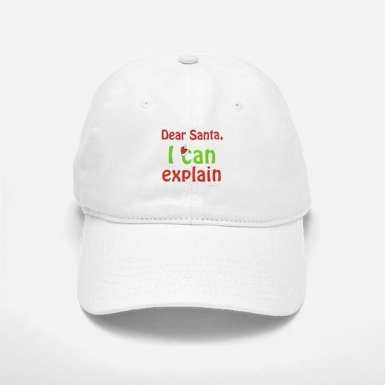 Santa I Can Explain Baseball Baseball Cap