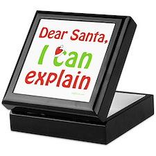 Santa I Can Explain Keepsake Box